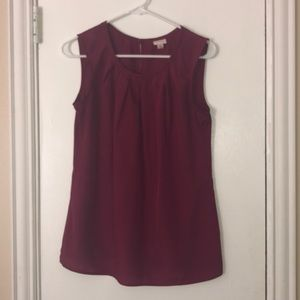 Beautiful mulberry sleeveless blouse